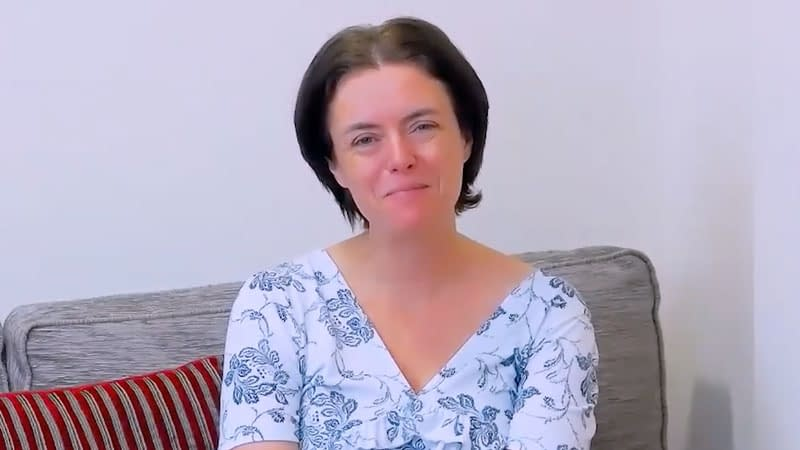 Anne Dannerolle leads the recorded service